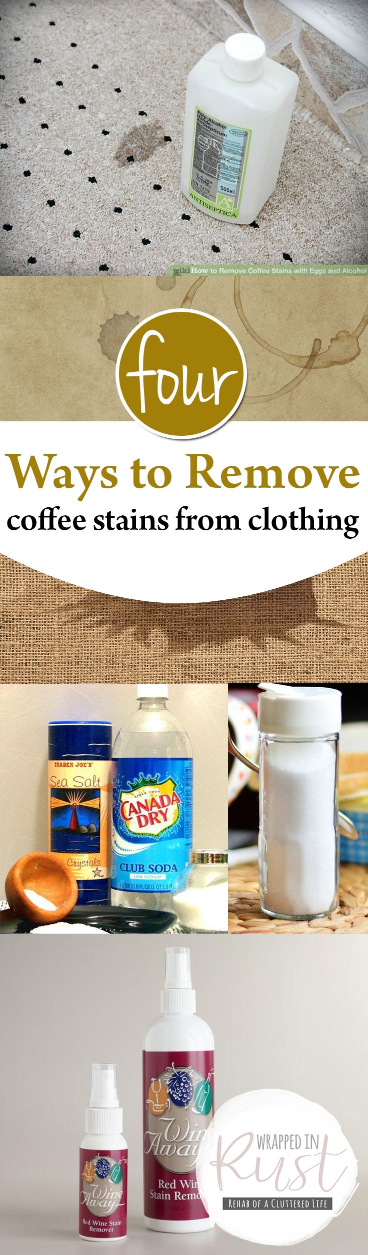 Four Ways to Remove Coffee Stains from Clothing| Remove Coffee Stains, Clothing, Removing Stains from Clothing, Stain Hacks, Laundry Hacks, Popular Pin #Clothing #ClothingHacks