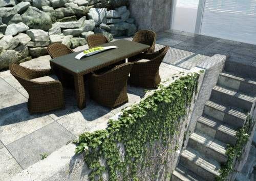 Stół Rapallo 200 cm, 6 Foteli Leonardo