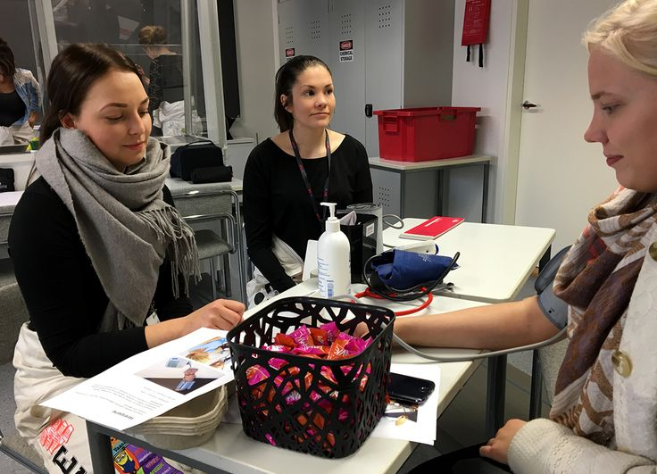 Our Public Health Nurse -students at the Lukiopäivä high school -event 2016