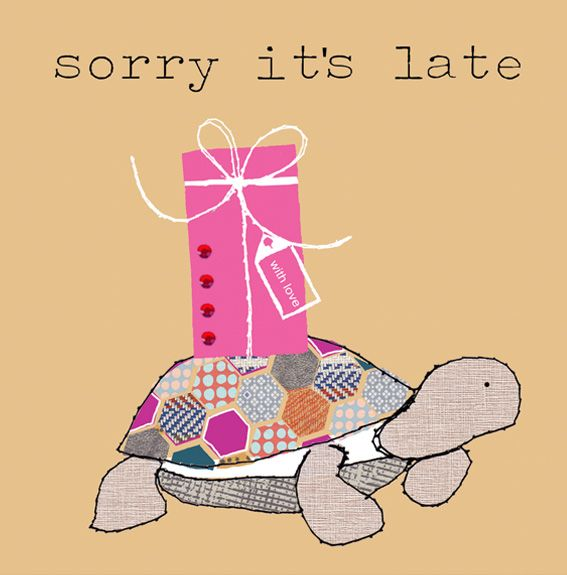 sorry it's late Stop the clock
