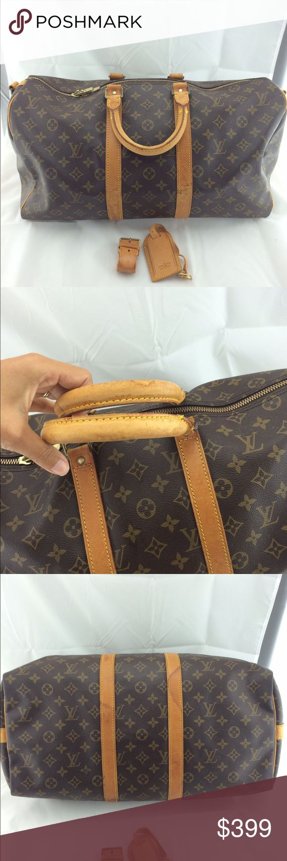 Authentic Louis Vuitton keepall 45 travel bag 100% authentic.good preowned condition.no trades.id tag and small strap included. Louis Vuitton Bags Travel Bags