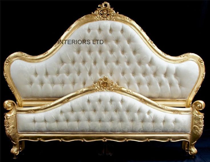 French Charles Louis Style Ornate Gold Leaf Bed King 5 FT ivory upholstered174 best yatak images on Pinterest   Antique furniture  Luxury  . Louis Style Bedroom Furniture. Home Design Ideas