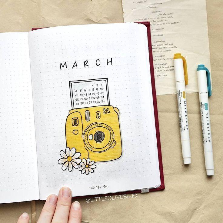March bullet journal theme – #Bullet #Journal #Mar…