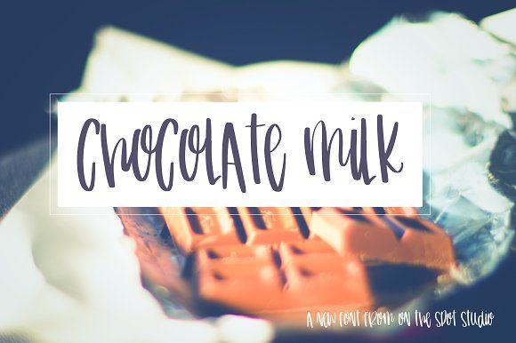 Chocolate Milk by OnTheSpotStudio on @creativemarket