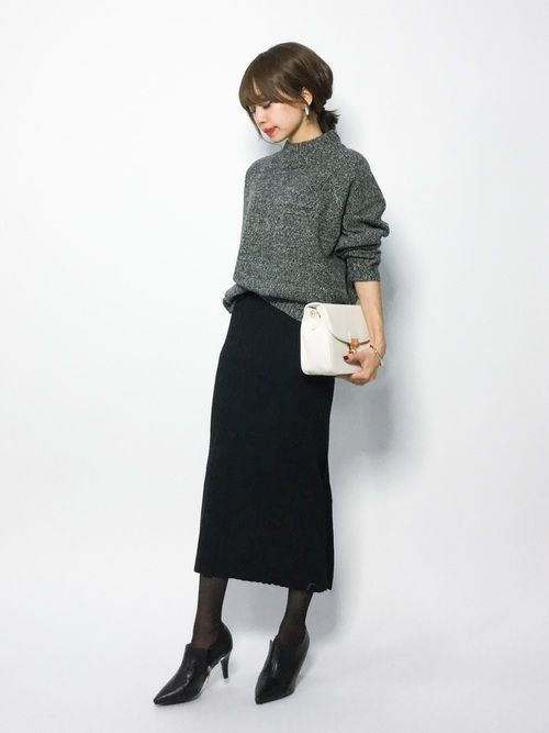 CHILD WOMANのニット・セーター「7GGラム2つ杢 モックネックプルオーバー」を使ったeriko(ZOZOTOWN)のコーディネートです。WEARはモデル・俳優・ショップスタッフなどの着こなしをチェックできるファッションコーディネートサイトです。