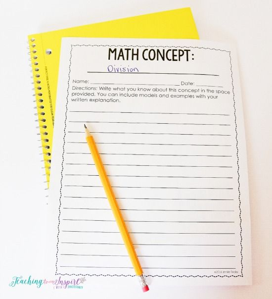 Try this free math concept writing template to get your students writing more in math class.