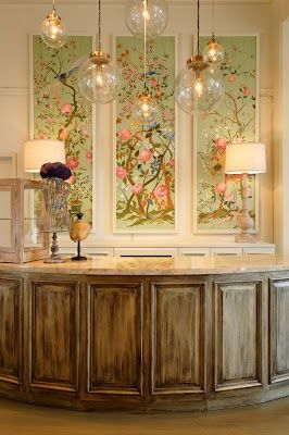 Noted Home: a decorating notebook: framed wallpaper panels