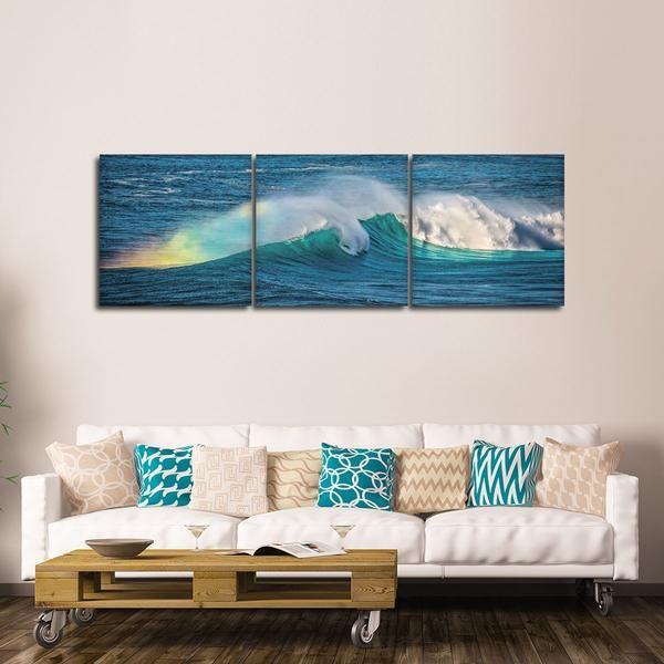 Ocean Rainbow Multi Panel Canvas Wall Art Wall Canvas Canvas Wall Art Beautiful Art Print