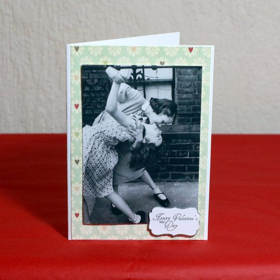 Two girls vintage Valentine's Day Card by HoneysDead on Etsy