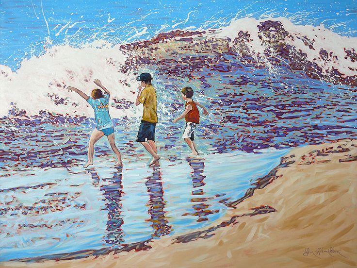 John Hamilton - Catch me if you can 100x76cm, Acrylic