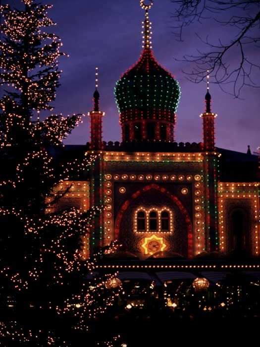 Christmas market at Tivoli Gardens, Copenhagen, Denmark