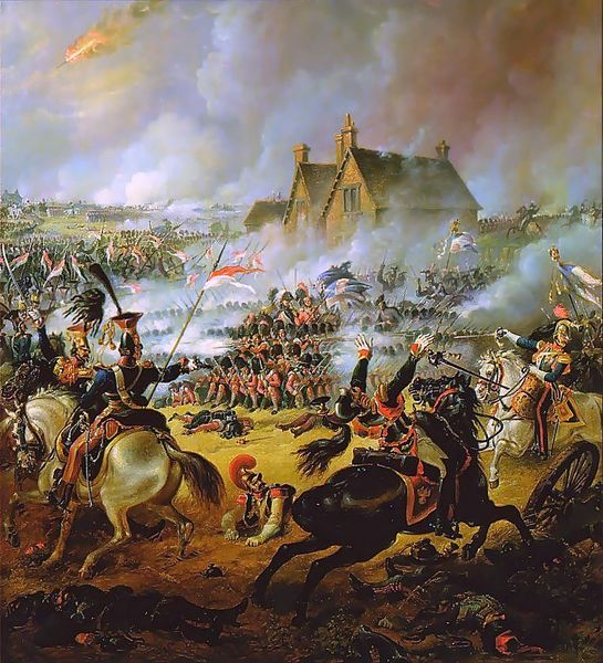 1815  Battle of Waterloo by Thomas Jones Barker (1815-1882)  wikimedia.org (PD-Art)