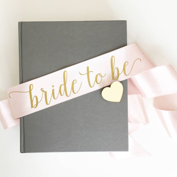 Satin Bride To Be Hen Party Sash