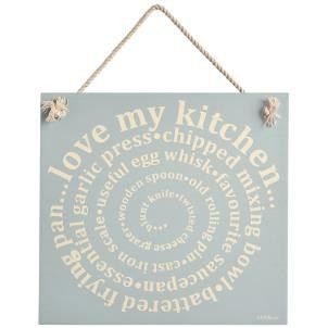 Zed & Co Wooden Sign 'Love My Kitchen' - Amour Decor - 1