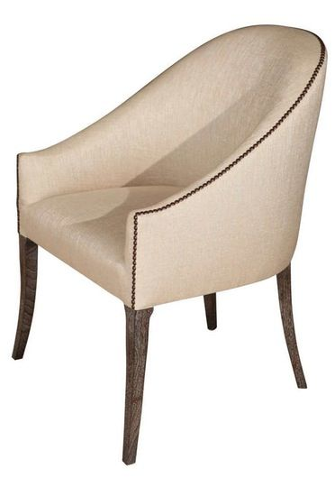 Spoon Back Occasional Chair  Traditional, Transitional, Upholstery  Fabric, Metal, Wood, Side Chair by Paul Marra Design