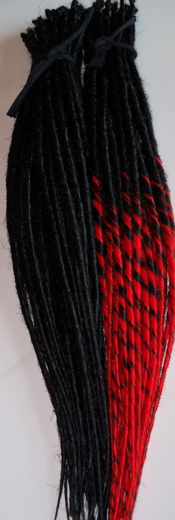 100 Synthetic Dreads Custom Hair Extensions by damnationhair, $150.00