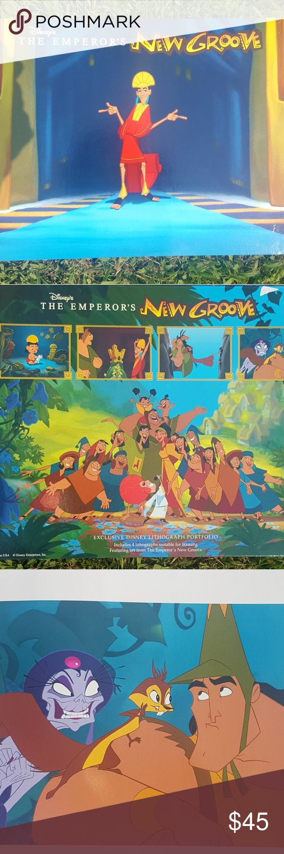 Disney 's The Emperor 's New Groove Authentic Disney The Emperor 's New Groove Lithograph.  Excellent condition,  perfect for framing and makes an amazing gift for the BIG Disney fan in your life! Taking offers!!! 💞 Other