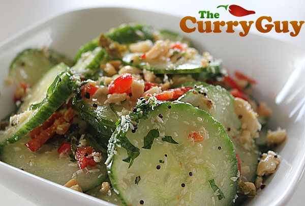 This is an Indian cucumber salad. It is full of amazing flavours and really worth making. The recipe is easy. You can make this cucumber salad in minutes.
