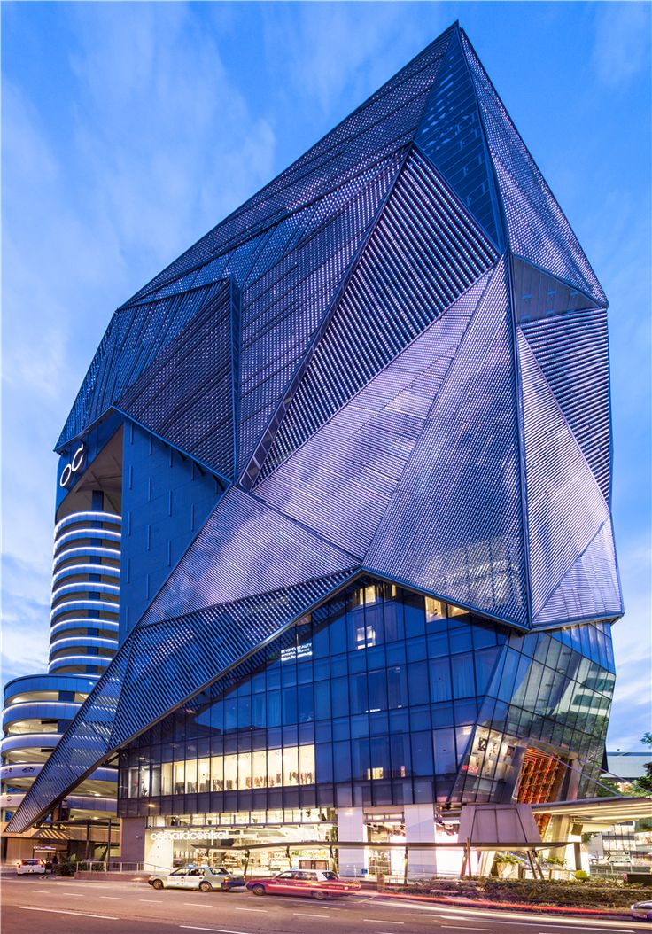 Angular, Geometric, Metal Facade of Orchard Central ...
