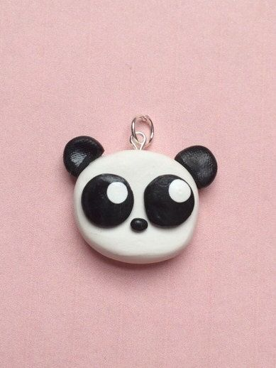 Polymer clay panda charm baby panda panda charm by KawaiiCreationz, $6.00