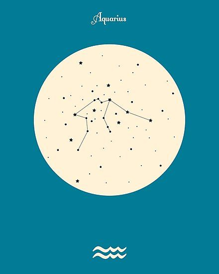 Aquarius Blue Photographic Print By Naturesgarden Zodiac Mind