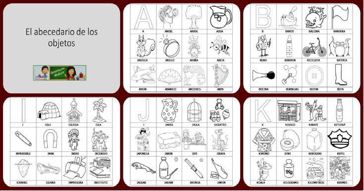 El abecedario de los objetos listo para imprimir