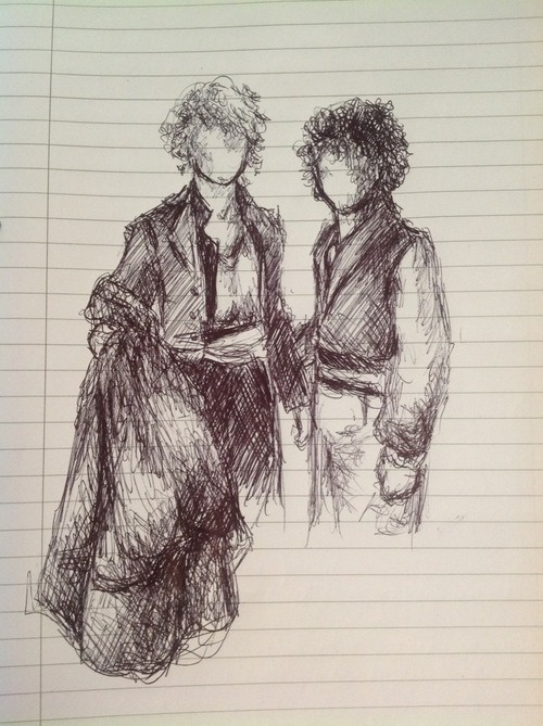 Fan art of Enjolras and Grantaire. It's. Just. So. Good.