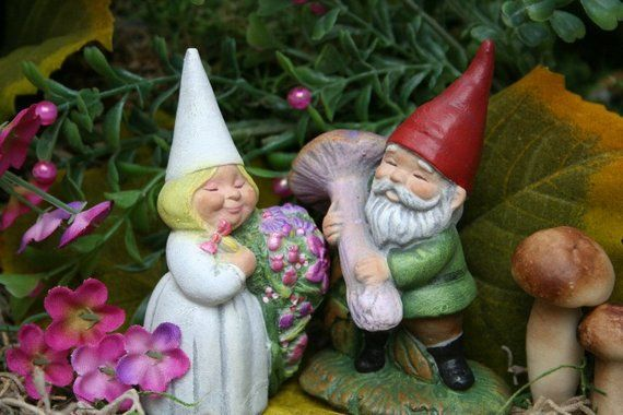 Garden Gnomes Wedding Cake Topper Miniature Gnomes For Sale