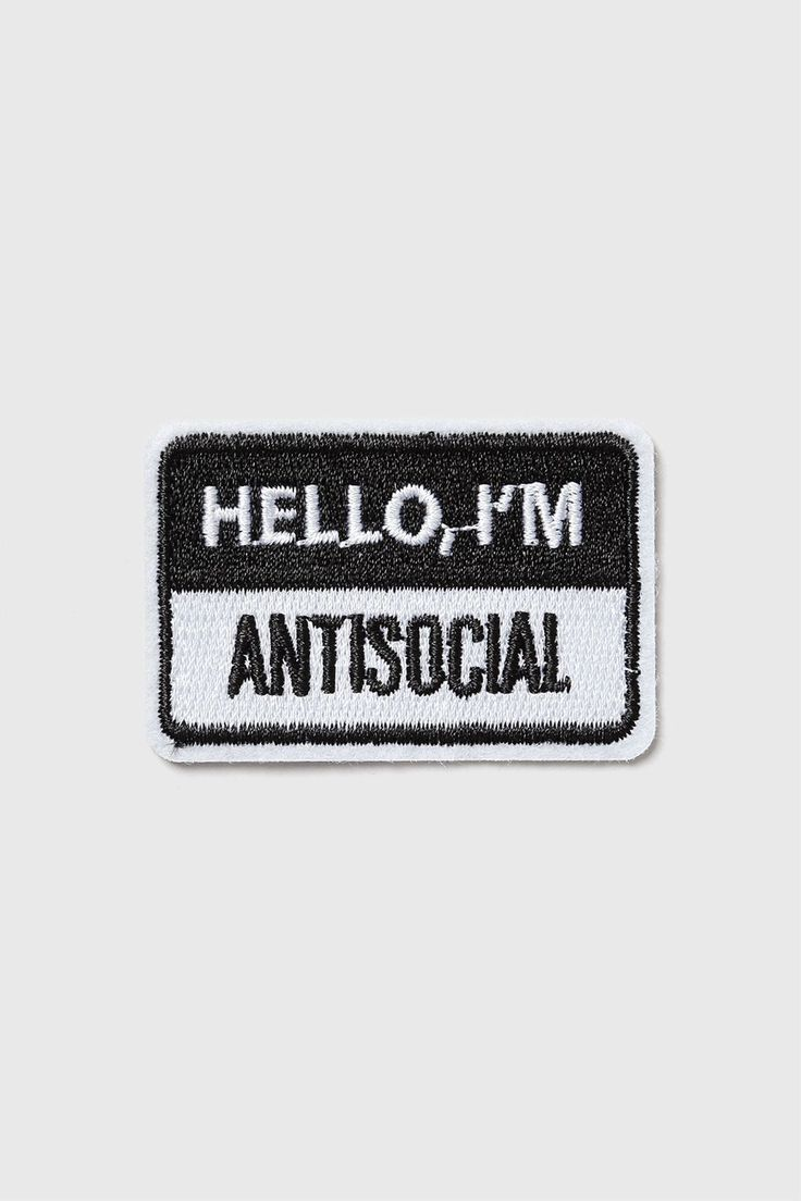 hello, i'm antisocial