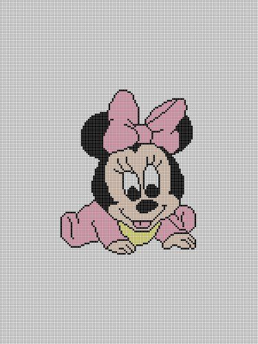minnie mouse crochet patterns | BABY MINNIE MOUSE CROCHET PATTERN AFGHAN GRAPH E-MAILED.PDF #061 ...