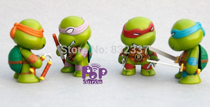 Classics Movie Anime Teenage mutant ninja turtles Figures PVC Action Figures 4pcs/Set Best Collection Toys For Children //Price: $US $18.80 & FREE Shipping //     #toyz24