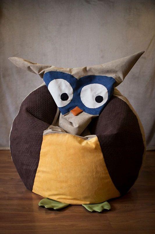 Owl Stuff For The Home Part - 49: Pouf Owl - Clara Pinned By Www.myowlbarn.com
