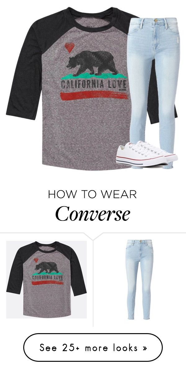 """""""Untitled #2869"""" by laurenatria11 on Polyvore featuring Billabong, Frame and Converse"""