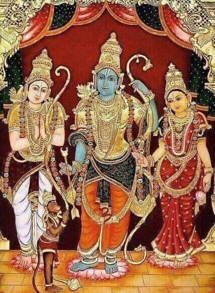 Rama, Lakshmana, Sita and Hanuman