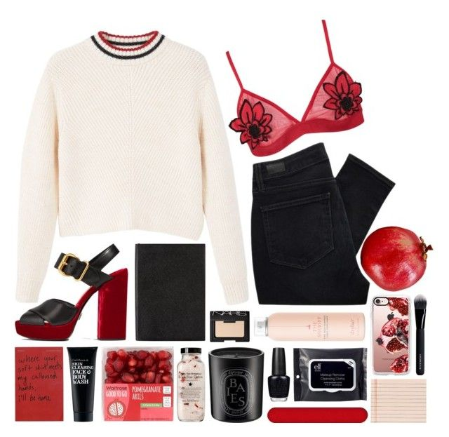 persephone by reneebradoak on Polyvore featuring MANGO, Paige Denim, Boohoo, Prada, Casetify, NARS Cosmetics, Givenchy, e.l.f., Drybar and Clark's Botanicals