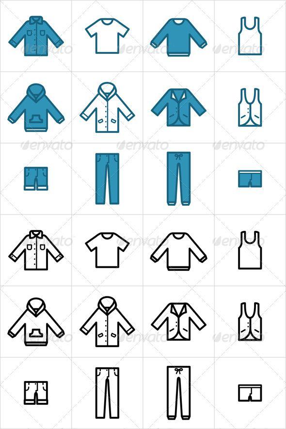 Clothing Icons Set 1