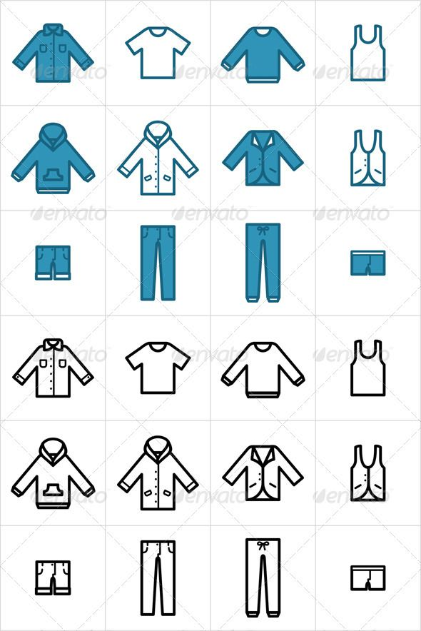 Clothing Icons Set 1