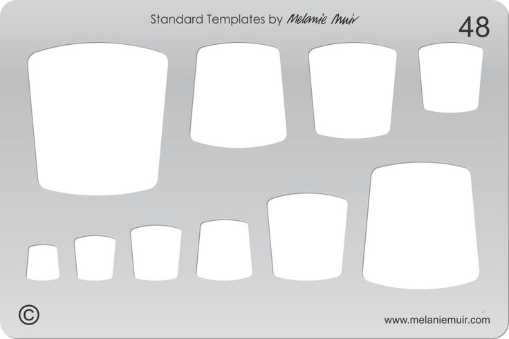 Acrylic template No. 48. Perfect for creating a wide variety of polymer, metal or clay bracelet, necklace, pendant and earring designs.