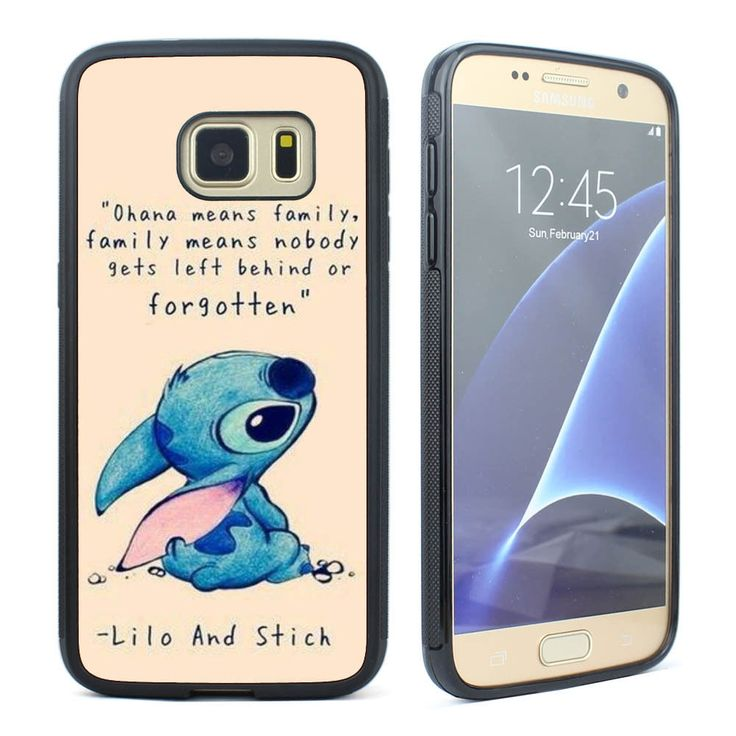Disney Lilo and Stitch Ohana Means Family Case for Samsung Galaxy S5 S6 S7