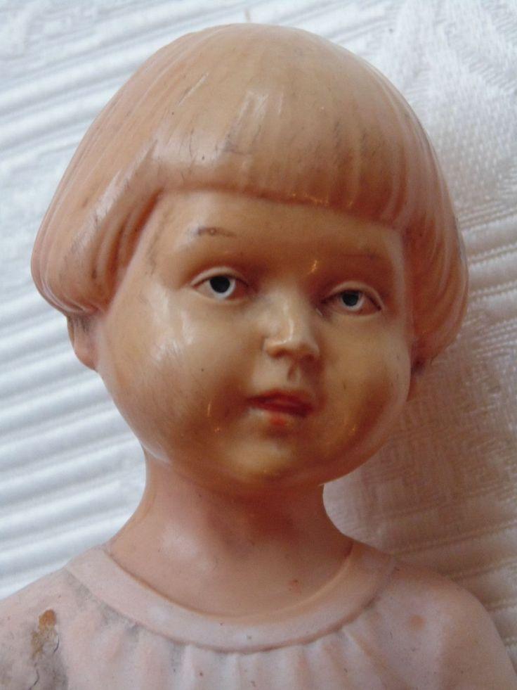 RARE petite poupée ancienne en celluloïd SIR Schildkröt fillette 1920 style SIC 8