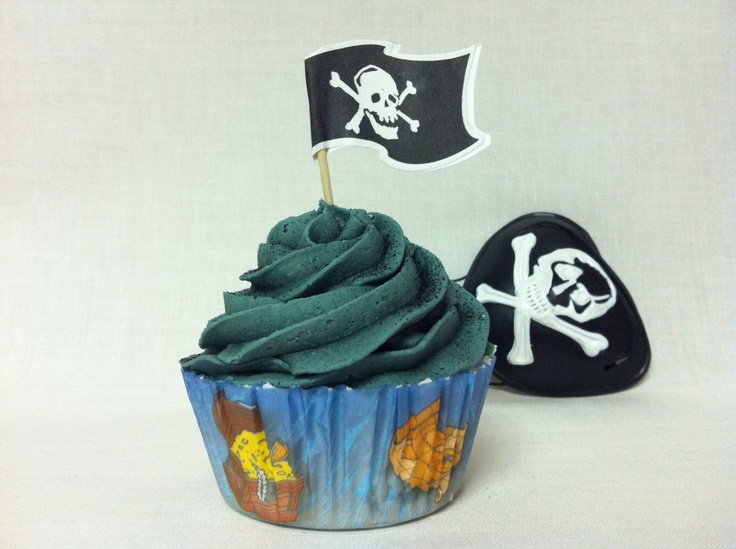 Pirate -Surprise cupcake bath bomb (surprise inside)  www.etsy.com/shop/SweetBathBakery