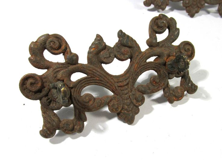 ornate drawer pulls vintage drawer pulls handle cast iron two 2 antique hardware drawer