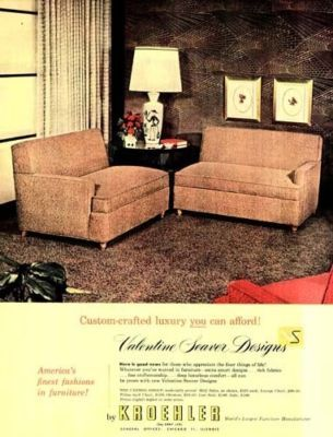Awesome A Vintage 1953 Kroehler Custom Crafted Luxury Furniture Advertisement. With  Pink Kroehler Sofau0027s!