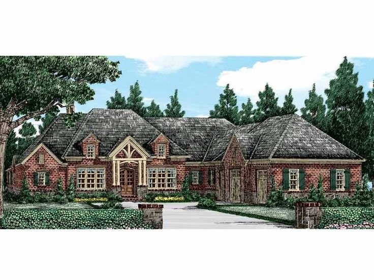 cottage house plan with 3206 square feet and 4 bedrooms