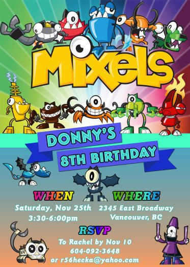 13 best party mixel images on Pinterest | Birthday celebrations ...