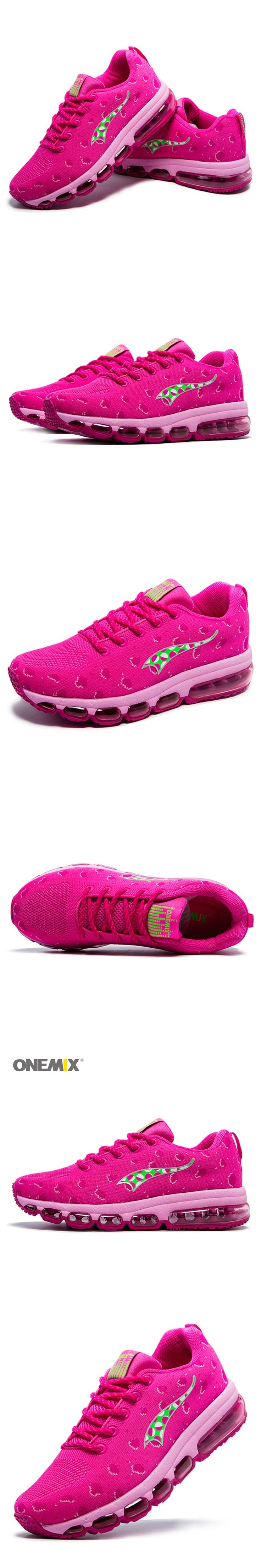 ONEMIX Women 's Sports Running Shoes Knitting Mesh Breathable and Lightweight Outdoor Sports Jogging Shoes EU 35-40 1183