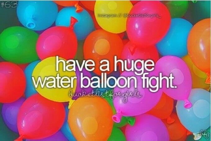 Huge water balloon fight...check!
