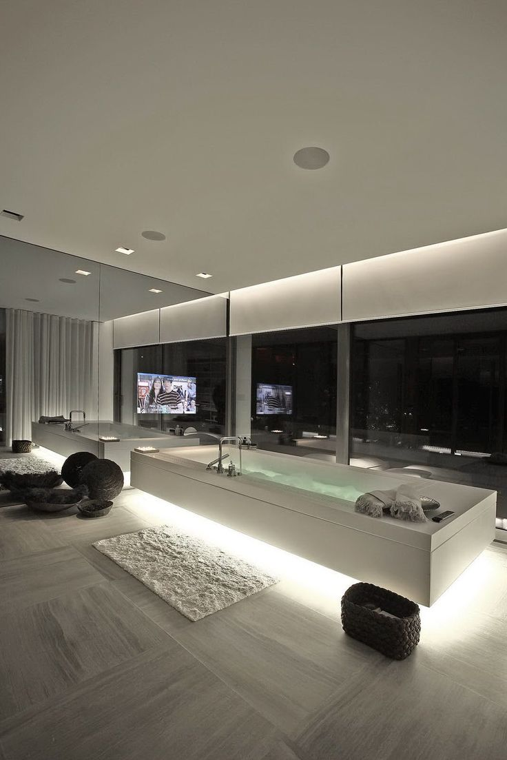 Awesome bathrooms with tv - The Defining Design Elements Of Luxury Bathrooms