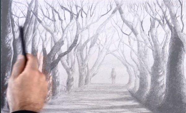 aprender a darle sombras a un paisaje 5