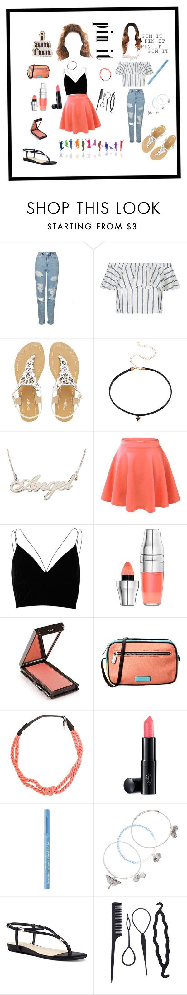 """Pin it"" by saranda-zogaj ❤ liked on Polyvore featuring Topshop, Dune, River Island, Lancôme, Jouer, Marc by Marc Jacobs, Krochet Kids, Laura Geller, Too Faced Cosmetics and Alex and Ani"